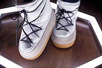 Moon boots женские луноходы,угги,унты цвет белый код 373