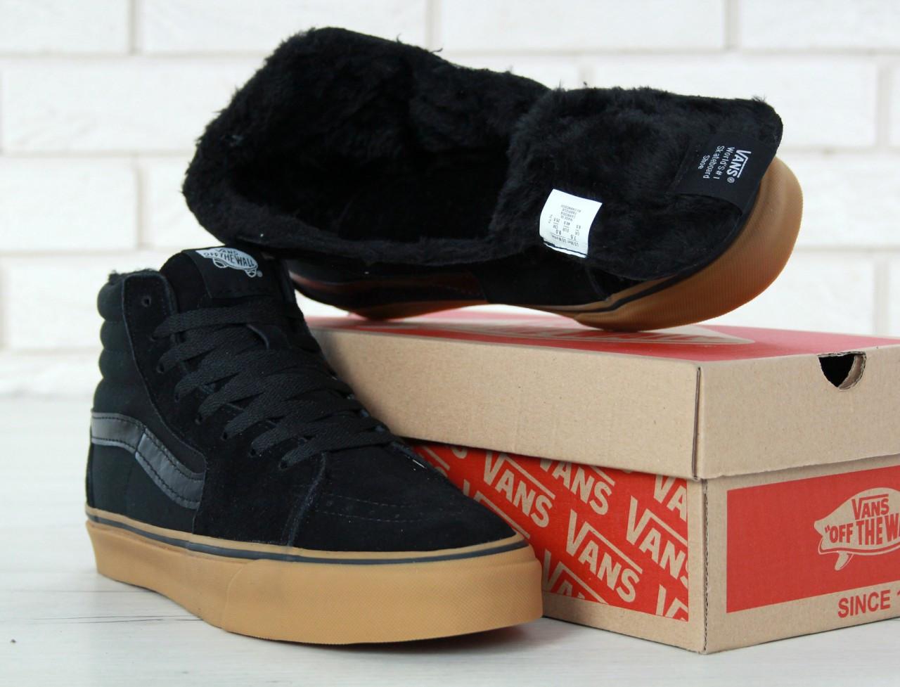 ... Кеды Vans SK8 - Hi. Winter Edition Black Gum Black 4972dd6c8204b