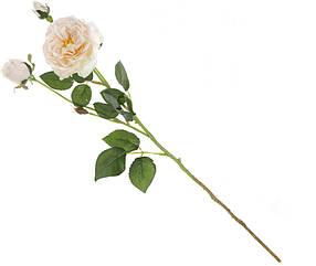 Декоративная ветка Розы 2 вида - нежно-розовый кремовый (709-342)