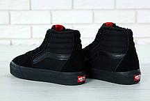Кеды Vans SK8 - Hi. Winter Edition Black, зимние вансы с мехом. ТОП Реплика ААА класса., фото 3
