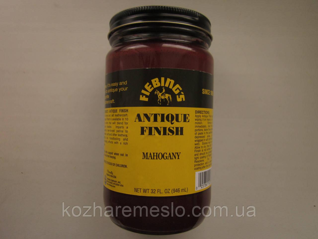 Антик - финиш FIEBING'S для кожи 50 гр mahogany (красное дерево) (не фирменная упаковка)