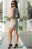 Кокетливое женское платье на подкладке с кружевом Черный. (2 цвета) Р-ры 42-50. (141)586., фото 3