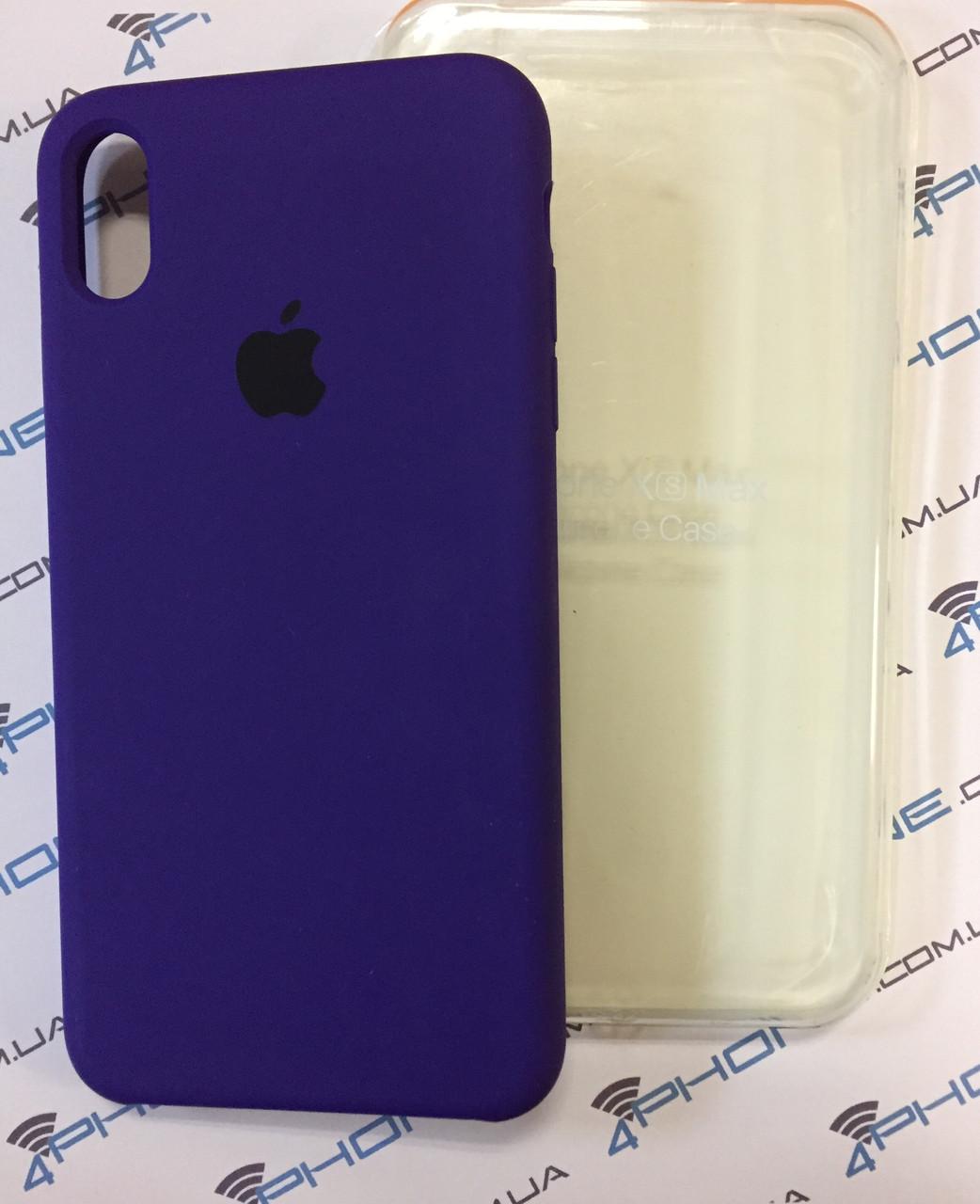 Силиконовый чехол для iPhone Xs Max, - «ультрафіолетовий» - copy original