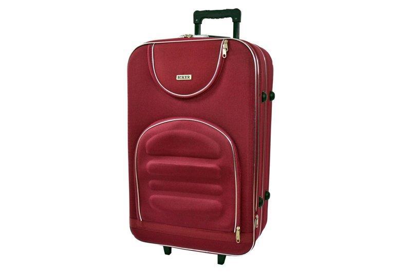 Дорожній валізу на колесах Siker Lux Бордовий Невеликий