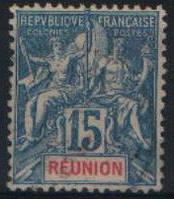 Реюньон 1892-1905 15с Sc#41