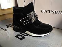 Ботинки женские зимние (цвет чорний), фото 1