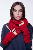 Вязаные митенки перчатки женские, фото 1