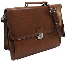 Портфель деловой из искусственной кожи 809-2 brown коричневый