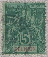 Реюньон 1892-1905 5с Sc#37