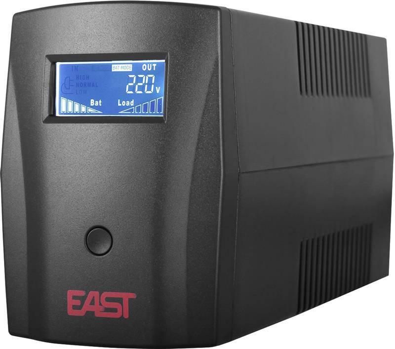 ИБП East EA-600VA LCD, Line Int., AVR, 2хSchuko (05900009)