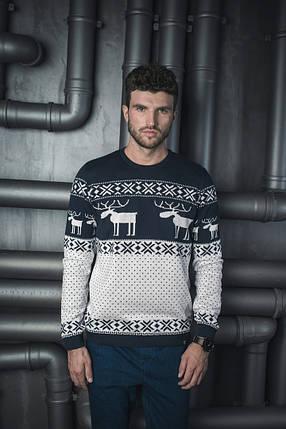 Мужской теплый вязаный свитер BEZET «С Оленями 2», фото 2