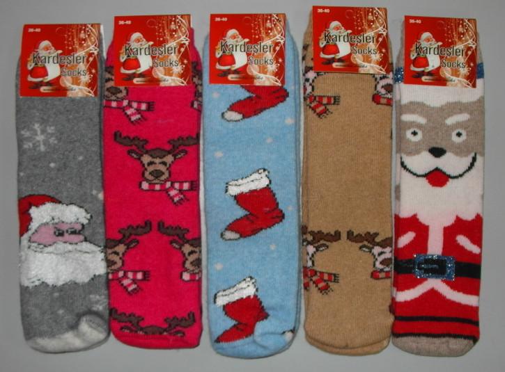 Носки женские шерсть-махра ароматизированые 1 пара 36-40 раз
