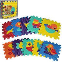 Детский развивающие Коврик пазлы Животные EVA 2619- 10 деталей по 31.5х31.5х10 см