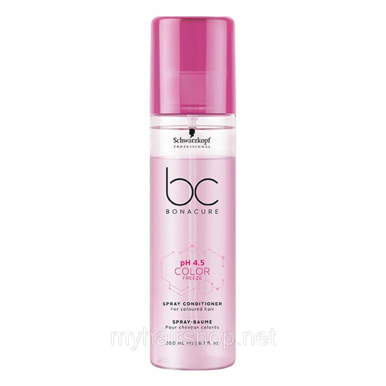 Спрей-кондиционер для окрашенных волос SCHWARZKOPF BC Color Freeze Spray Conditioner 200 мл