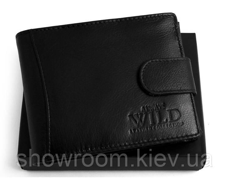 Портмоне мужское Always Wild (N992L) кожаное черное