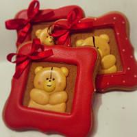 Подарок на День Влюблённых, подарок ко дню св. Валентина-  медово-имбирный пряник