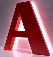 Буквы с контражурной подсветкой | Изготовление объемных букв с контажуром | Пластиковые буквы вывесок рекламы