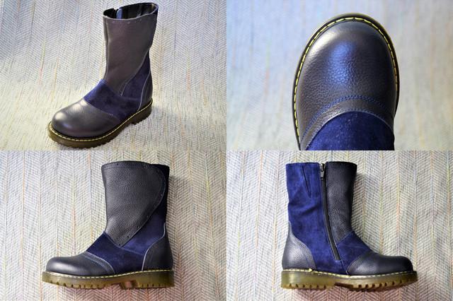 Зимние сапожки, Eleven shoes синие фото