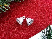 Набор серебряных колокольчиков больших, 2 шт, 22 мм