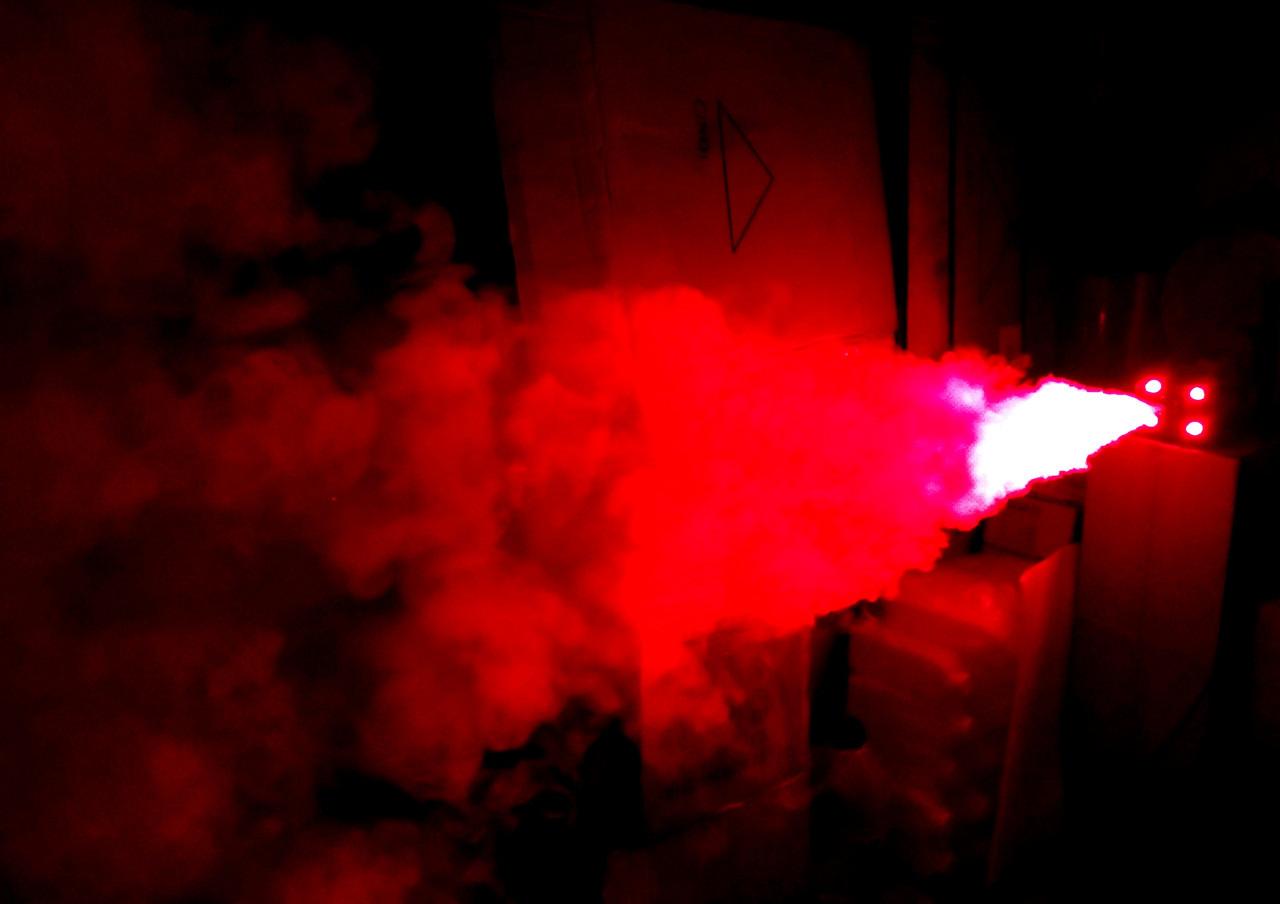 Дым машина 400 Вт с Led RGB подсветкой 2 пульта