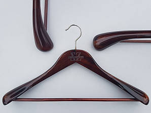 Плечики длиной 45 см вешалки деревянные Mainetti Kazara Royal