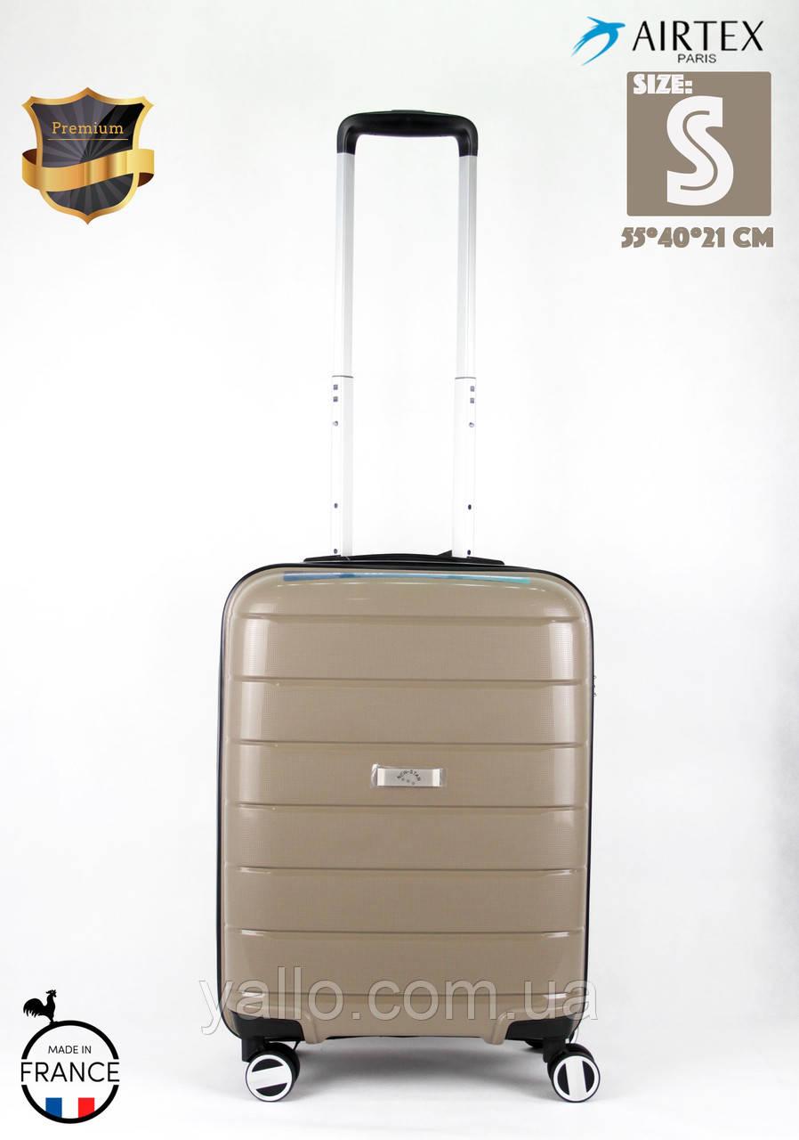 d33d958a0b05 Французский Ударостойкий чемодан Малый из полипропилена на 4-х колесах