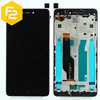 Экран дисплей Xiaomi Redmi Note 4x Черный, рамка + модуль LCD + сенсор