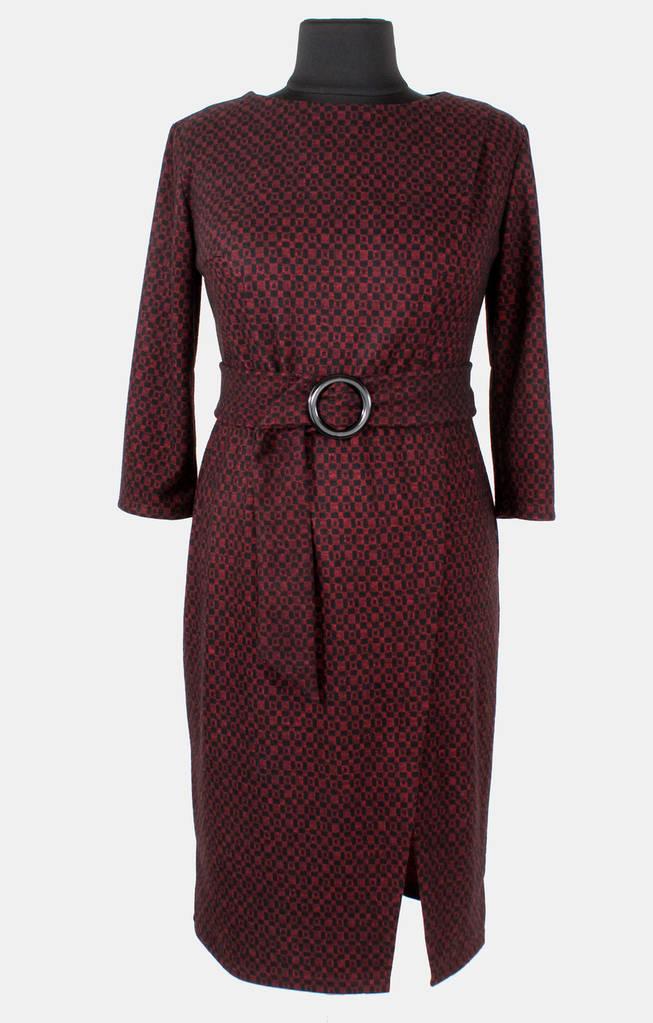 Женское платье с разрезом 50-56 р ( бордовый, синий, серый )