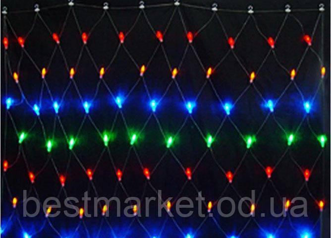 Новогодняя Гирлянда Сетка 240 Led А Диодов 3,5 х 0,8 м в Ассортименте