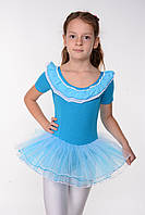 Детский купальник для танцев с юбкой пачкой Рост только 110 см, фото 1