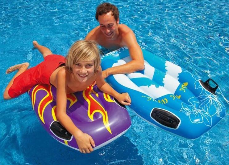 Intex 58165 (112х62 см.) Надувной плот для обучения плаванию Серфинг