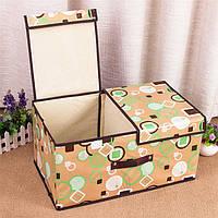 Кофр, Короб на 2 секции, двойная крышка на липучках, органайзер, ящик для вещей