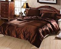 Комплект постельного белья Атласное шоколад
