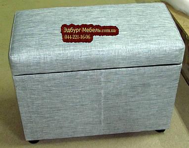Пуф в тканини антикоготь 450х600хвысота 420мм Кожзам Родео
