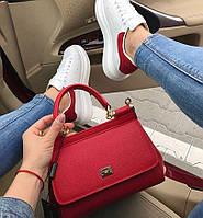 Люкс-реплика сумка Dolce&Gabbana, красная, мини