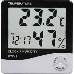 Цифровий термо-гігрометр AIRO HTC-1 годинник, будильник (mdr_2039)