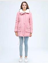 Куртка парка зимняя женская (розовая)