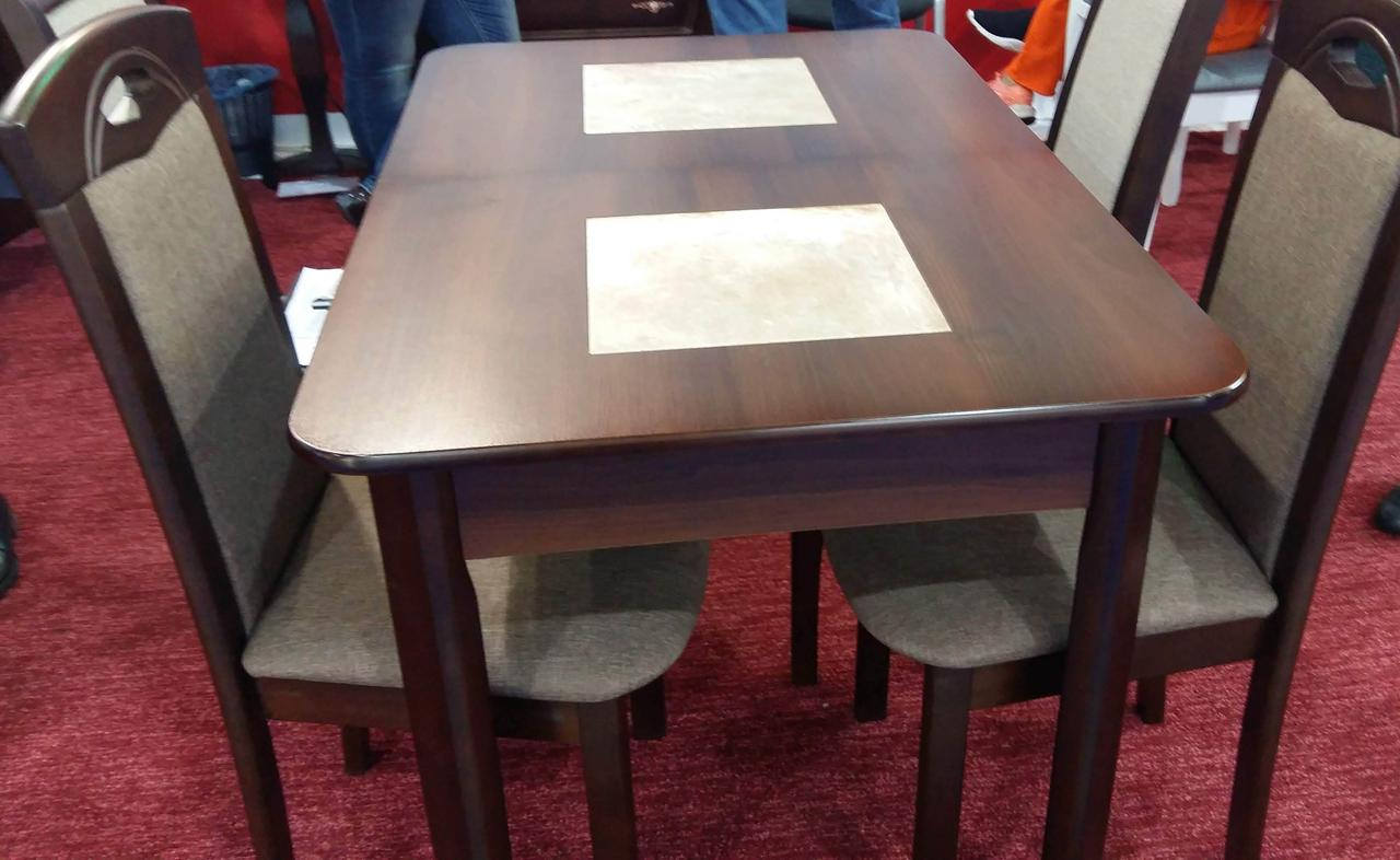 Стол  на кухню  Бостон Микс мебель, цвет темный орех