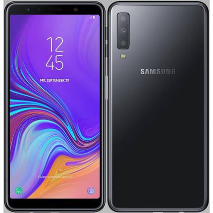 Смартфон Samsung Galaxy A7 2018 Black (SM-A750FZKUSEK) Оригинал Гарантия 12 месяцев, фото 2