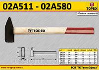 Молоток столярный рукоятка деревянная m-5кг,  TOPEX  02A550