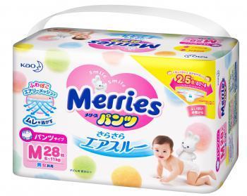 MERRІES Трусики-підгузники для дітей розмір M 6-11 кг, шт 28