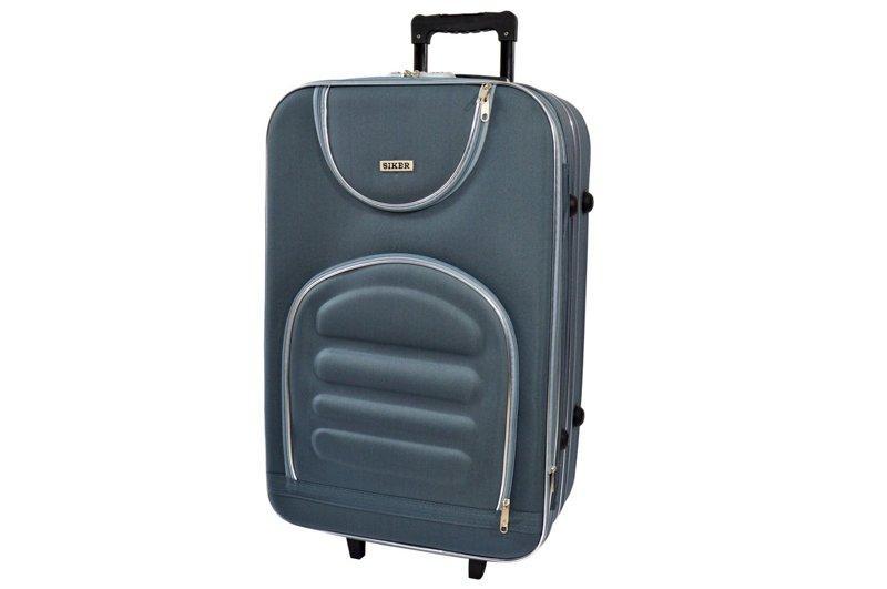 Дорожній валізу на колесах Siker Lux Сірий Середній