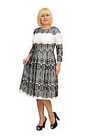 """Платье """"Рафаэлло"""" молочное —  Модель 1089м (замена кружева под фото)"""
