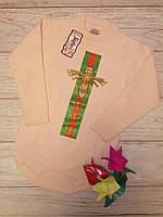 Свитер теплый на девочку, кофта теплая, свитер детский, Стрекоза Гуччи 134-140см стразы