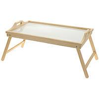 Стол для завтрака, поднос бамбуковый с ножками, 50 x 30 см