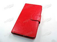 Кожаный чехол книжка Blackview S8 (красный)