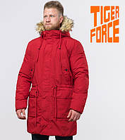 Зимняя мужская парка Tiger Force - 58406 красная