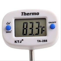 Цифровой кухонный термометр TA 228 (-50 до +300 С) с вращающимся на 180º дисплеем Thermo (mdr_2473)