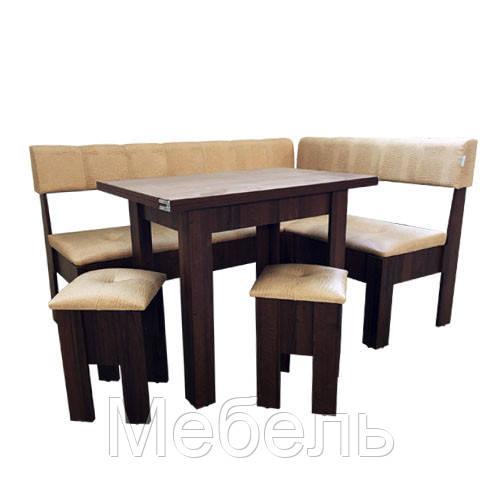 Кухонный уголок комплект Терра Mobili&Vetro угол+стол+2 табуретки