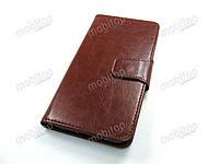 Кожаный чехол книжка Blackview S8 (коричневый)